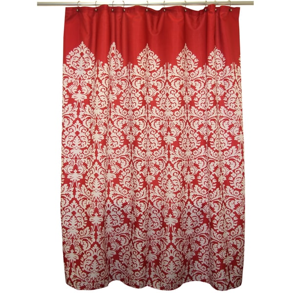 Shop Waverly Essence Lipstick Red Shower Curtain
