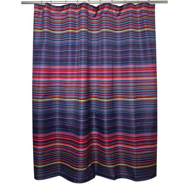 Eye Candy Multi-stripe Shower Curtain