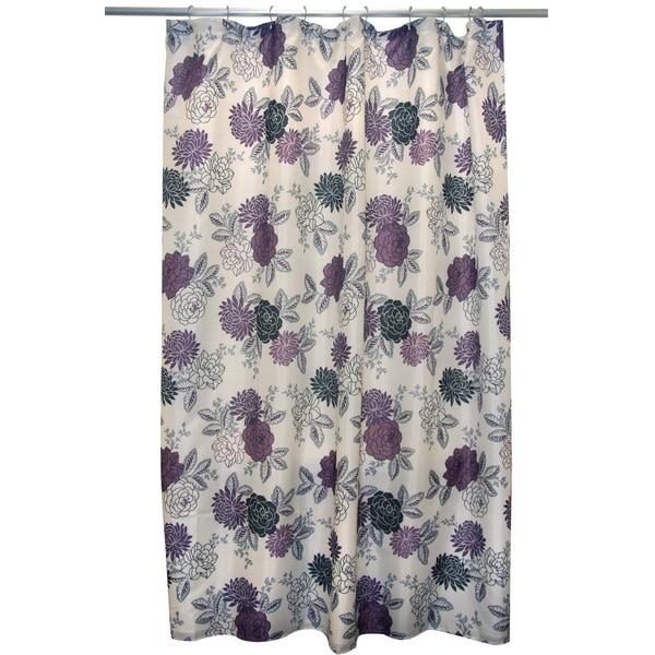 Waverly Cheri Purple Shower Curtain