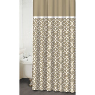 Lovely Lattice Taupe Shower Curtain