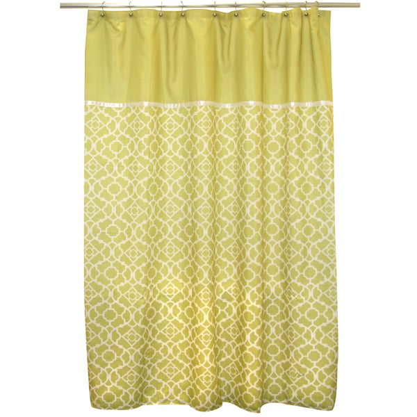 attractive Waverly Lovely Lattice Curtain Part - 14: Waverly Lovely Lattice Citron Shower Curtain