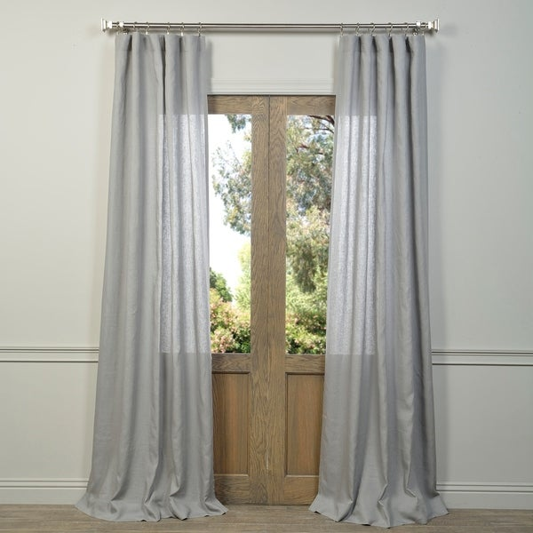 Exclusive Fabrics Signature French Linen Curtain Panel