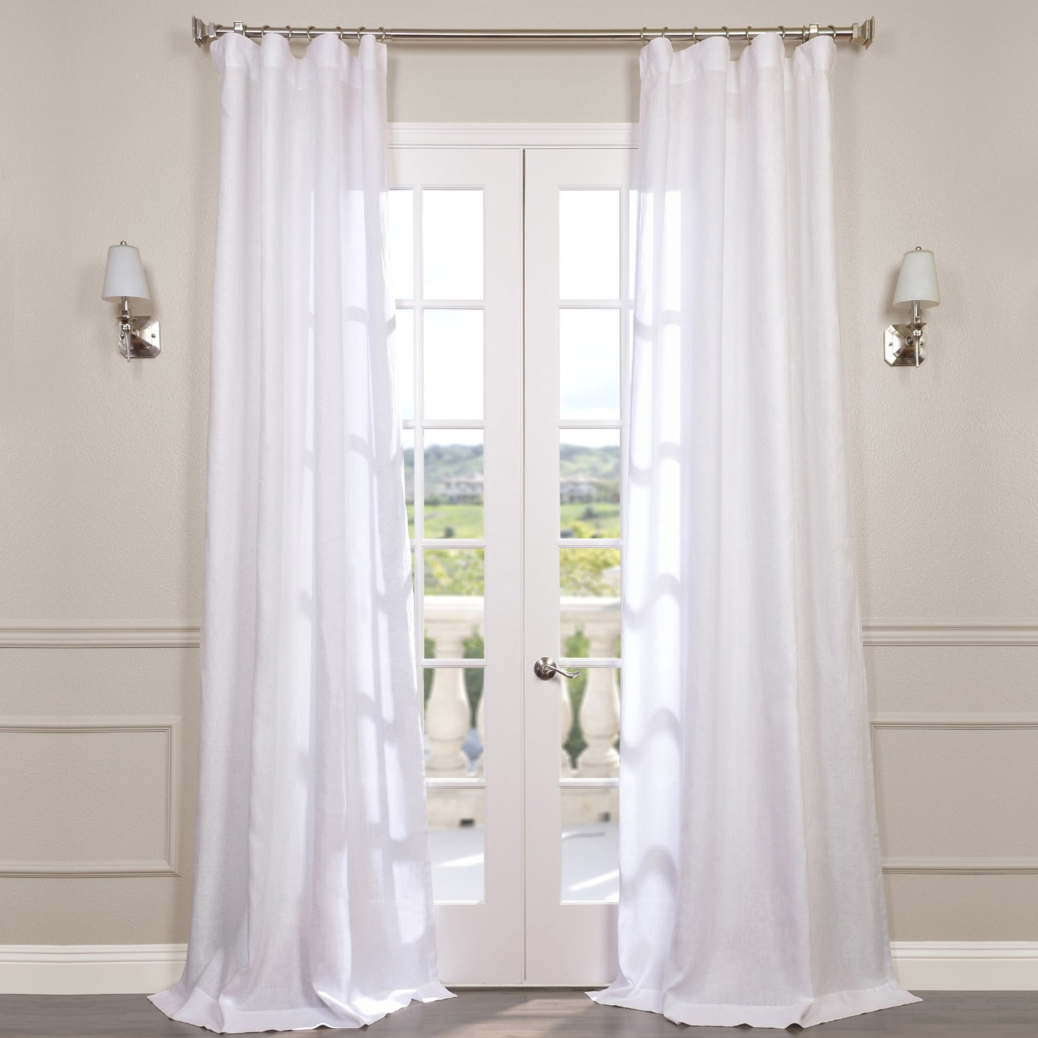 ip x viole qutain window set curtain turquoise linen panels solid drapes sheer of com inch panel walmart two