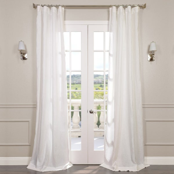 Exclusive Fabrics Signature French Linen Sheer Curtain Panel