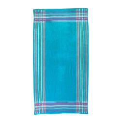 Alexander Julian Pinstripe Plaid Beach Towel (Set of 2) - Thumbnail 1