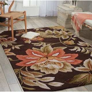 Link to Nourison Fantasy Traditional Floral Area Rug Similar Items in Transitional Rugs