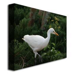 Patty Tuggle 'Egret' Canvas Art (Refurbished)