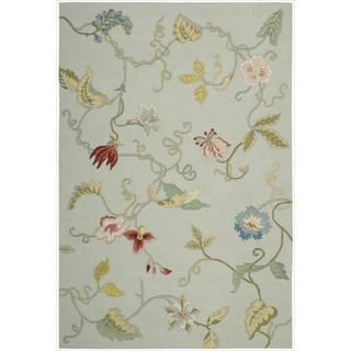 Nourison Hand-hooked Fantasy Green Rug (3'6 x 5'6)
