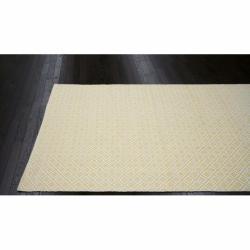 Williamsburg Borinquen Handmade Flatweave Moroccan Trellis Yellow Cotton Rug (8' x 10') - Thumbnail 1