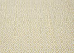 Williamsburg Borinquen Handmade Flatweave Moroccan Trellis Yellow Cotton Rug (8' x 10') - Thumbnail 2