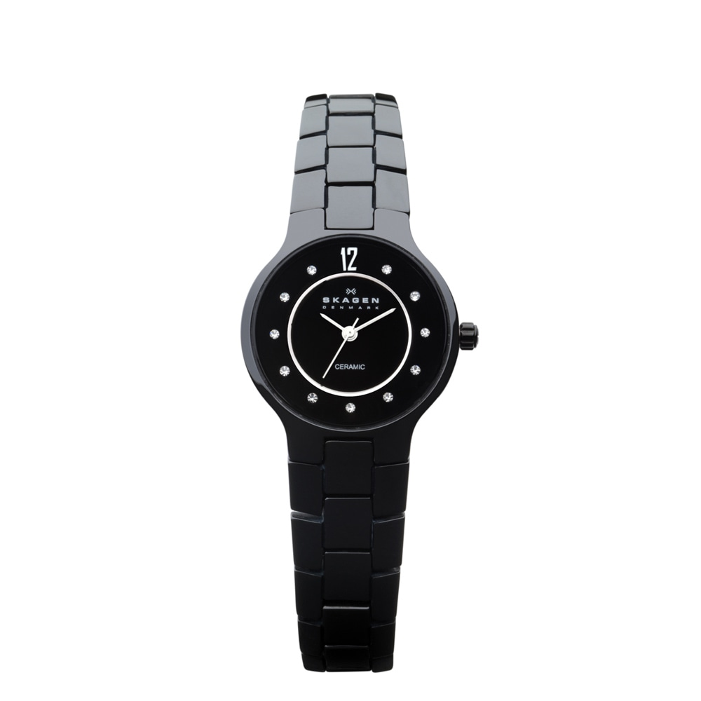 Skagen Women's Ceramic Black Dial Watch