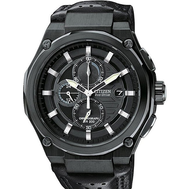 Citizen Men's Eco-Drive Black Sport Chronograph Watch