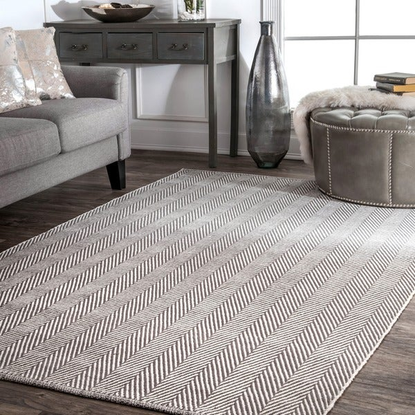 nuLOOM Handmade Flatweave Chevron Cotton Area Rug. Opens flyout.