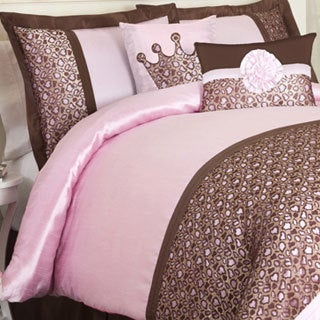 Shop Lush Decor Brown Pink Leopard 6 Piece Comforter Set
