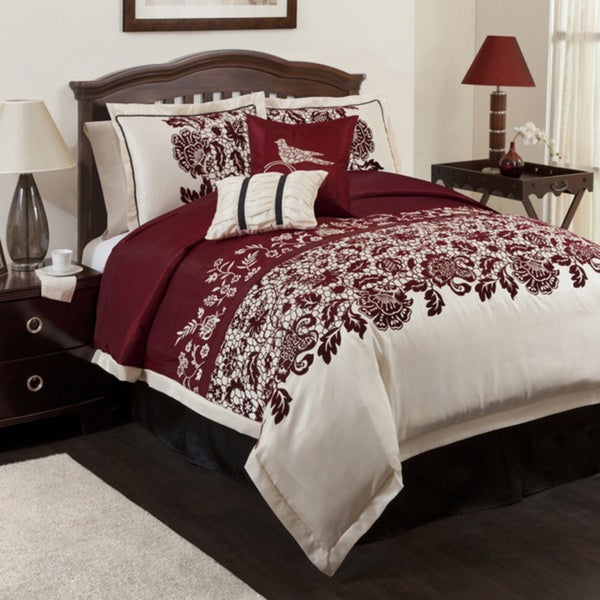 Lush Decor Red Estate Garden 6-piece Comforter Set
