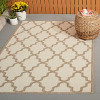 Outdoor Alexa Moroccan Trellis Brown Rug (5'3 x 7'9)