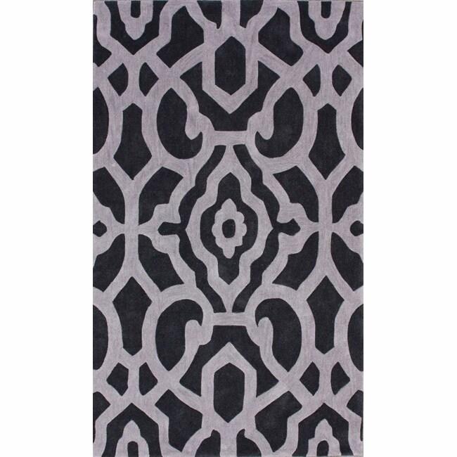 nuLOOM Handmade Pino Marrakesh Charcoal Rug (5' x 8')