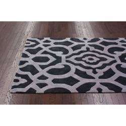 nuLOOM Handmade Pino Marrakesh Charcoal Rug (5' x 8') - Thumbnail 1