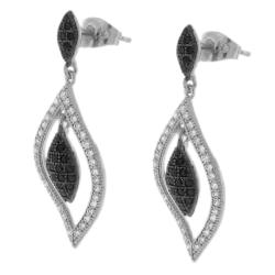 Sterling Silver Triple Diamond Shape CZ Earrings