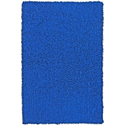 Hand Woven Shagadelic Neon Blue Chenille Shag Rug (2'5 x 4'16)