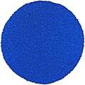 Hand Woven Shagadelic Neon Blue Chenille Round (3' x 3')