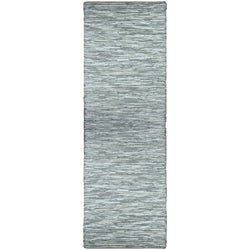 Hand-woven Matador White Leather Runner Rug (2'6 x 12')