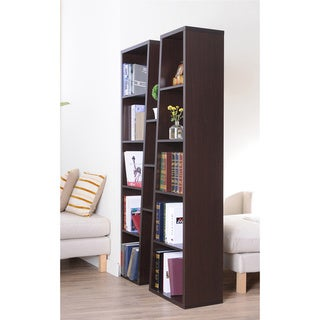Furniture of America Black Ten-shelf Bookcase