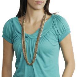 Journee Collection Muti-tone Multi-strand Chain Necklace - Thumbnail 2
