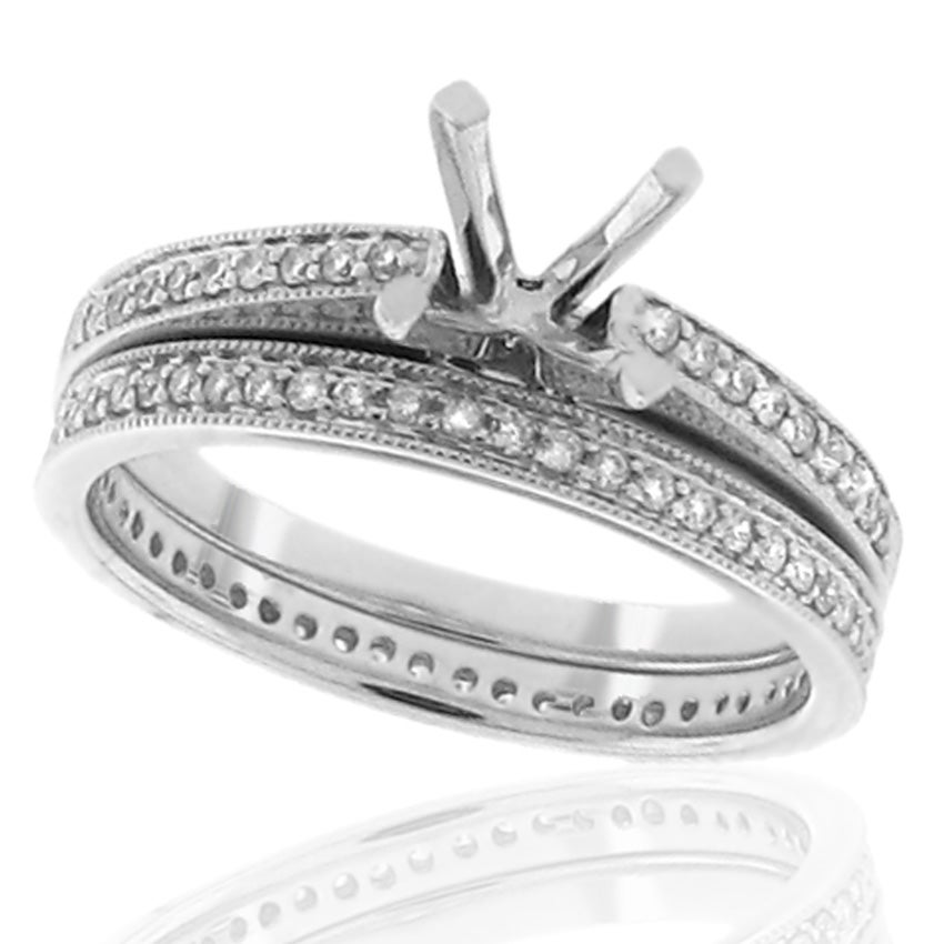 14kt White Gold 1/3ct TDW Diamond Engagement Ring - Thumbnail 0
