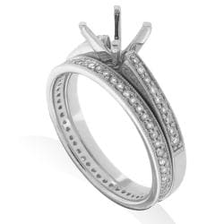 14kt White Gold 1/3ct TDW Diamond Engagement Ring - Thumbnail 1