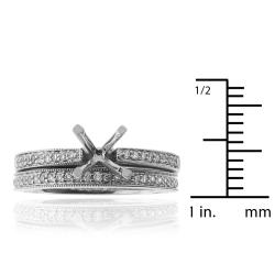 14kt White Gold 1/3ct TDW Diamond Engagement Ring - Thumbnail 2