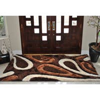 EverRouge Feather 3D Poly Silk Area Rug - 5' x 8'