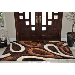 EverRouge Feather 3D Poly Silk Area Rug (5'x8')
