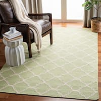Safavieh Hand-woven Moroccan Reversible Dhurrie Grey/ Ivory Wool Rug - 6' x 9'