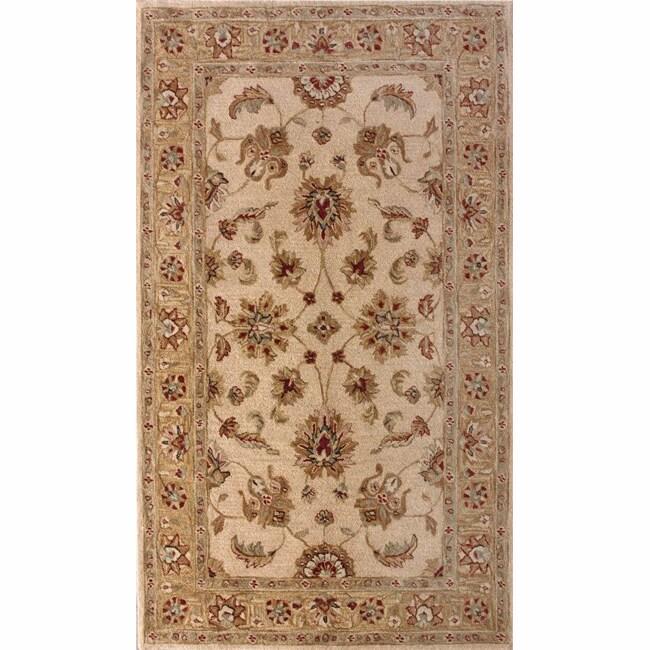 Handspun Decorative Persian Natural New Zealand Wool Area Rug (5' x 8')