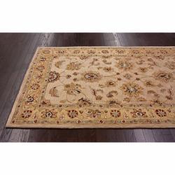Handspun Decorative Persian Natural New Zealand Wool Area Rug (5' x 8') - Thumbnail 1