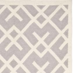 Safavieh Hand Woven Moroccan Reversible Dhurrie Grey Ivory Wool Rug 8 X