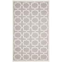 Safavieh Handwoven Moroccan Reversible Dhurrie Grey/ Ivory Wool Area Rug - 5' x 8'