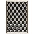 Safavieh Handwoven Moroccan Reversible Dhurrie Black/Ivory Wool Rug - 9' x 12'
