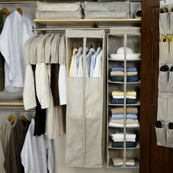 Whitmor White 60 Inch Extra Wide Clothes Closet