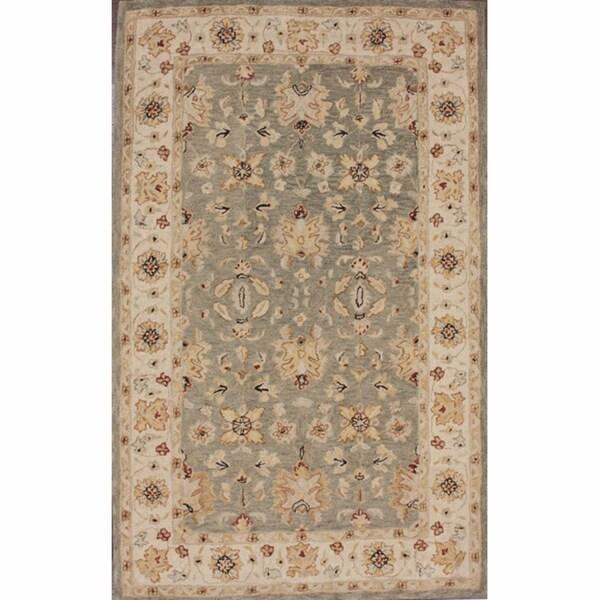 nuLOOM Handspun Decorative Persian Grey New Zealand Wool Rug (6' x 9')