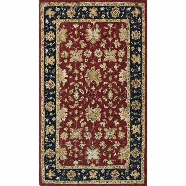 nuLOOM Handspun Decorative Persian Red New Zealand Wool Rug (5' x 8')