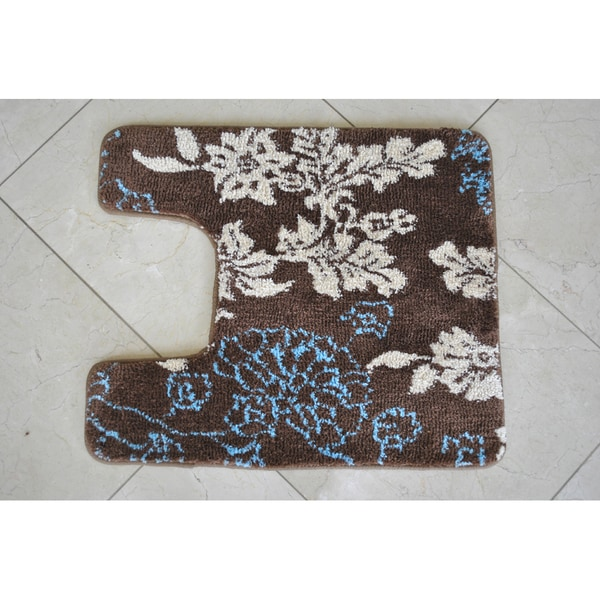 EverRouge Memory Foam Floral Contour Bath Rug Free Shipping On .