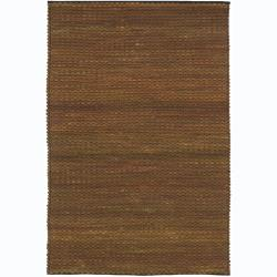 Artist's Loom Hand-woven Contemporary Abstract Wool Rug (5'x7'6)