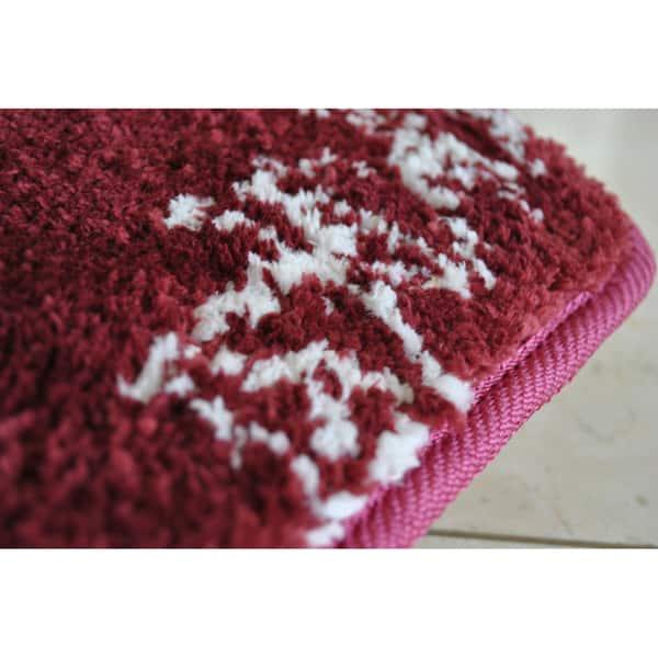 Memory Foam Floral Contour Bath Mat Overstock 6830948