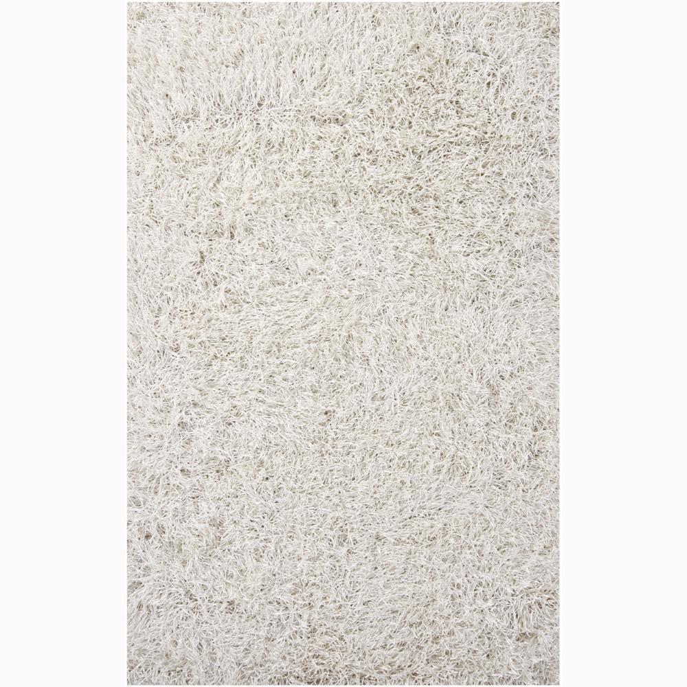Shop Hand Woven Duketi White Shag Rug 5 X 7 6 5 X 7