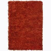 Artist's Loom Hand-woven Wool Shag Rug (5'x7'6) - 5' x 7'6
