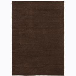 Artist's Loom Hand-woven Wool Shag Rug (5'x7'6) - 5' x 7'6 - Thumbnail 0