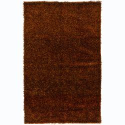Artist's Loom Hand-woven Shag Rug (2' x 3')