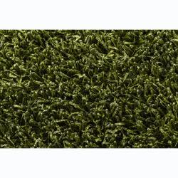 Hand-woven Alexa Green/ Black Shag Rug (2' x 3') - Thumbnail 2